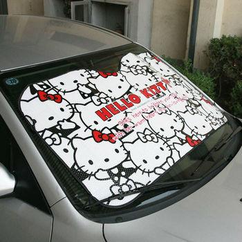 10pcs/lot Hello Kitty Cartoon Car Window Windshield Sun Shade Sun Protection Sun Visor Cool Summer Wholesale Free Shipping