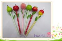 Hotsale! New fruit pen/Ball pen/ Fashion promotional pen with different colors wholesale 100pcs/lot Free shipping