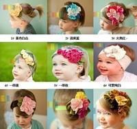 European style princess flower head hair Baby Headwear  Free Shipping