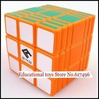 C4U Full Fuction magic cube 337 high quality cube 3x3x7 magic toys-orange version