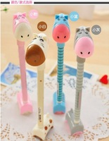 Hotsale! New giraffe pen with base plate/Ball pen/ Fashion promotional pen with different colors wholesale 100pcs/lot