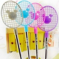 free shipping Stationery tennis racket style ballpoint pen school stationery prize
