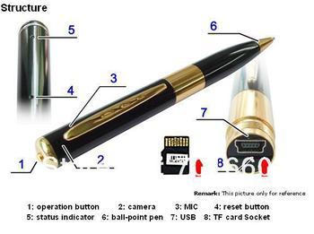 10pcs/lot Super Mini usb Pen Audio Video Recorder  Hidden mini Cameras HD  dv DVR SP1 720x480 DVR avp001A 7