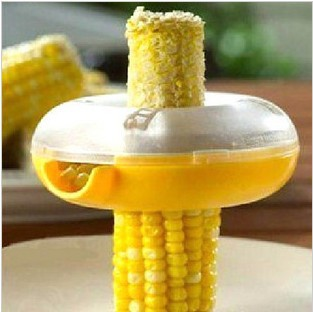 Fresh Corn Stripper Sweet Corn Threshing Device for Kitchen Round Novelty