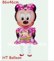 50pcs/lots free shipping wholesale Bargain Price!! Minnie Mouse Walking Pet Balloon Party Decoration Animal Balloons Kids Gift