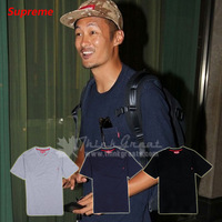 SUPREME contracted style pocket / red mark / leisure short TEE / short sleeve T-shirt