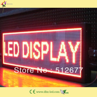 P7.62 red color indoor led sign