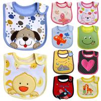 Free shipping Child newborn baby 100% cotton waterproof muffler scarf bib baby embroidered bibs bib