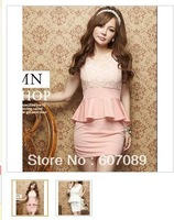 free shipping 2013 new arrival  pretty cheapest and high quality  woman dress short sleeve summer dress  lady skirt   lady dress