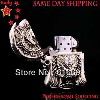 The  Predator Lighter: Top Hand Engraving, Tibetan Silver made, Same Day Shipping