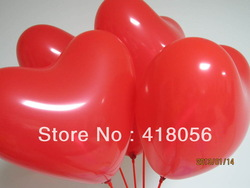 Wholesale 100pcs Heart Shape Balloons Occasions Wedding Birthday Party Decoration Supplies+Free Shipping(China (Mainland))