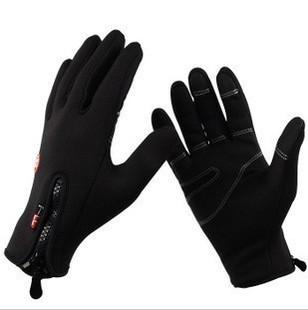 New 2013 Anti-slip Windproof winter Cycling Ski Bike Bicycle Full Long finger warm gloves M