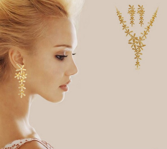 EA1 Drop Shipping 2013 new jewelry fashion gold flower full rhinestone ultra long earrings crystal women female TPP-6.99 55D(China (Mainland))