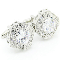 Romace Crystal Cufflinks