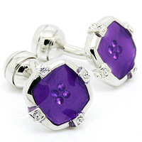 Purple Button Pattern Cufflinks