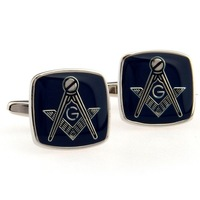 Light Blue Color Masonic Cufflinks