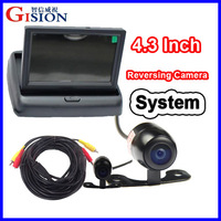 "Free shipping 4.3"" LCD Monitor Car Rear View Kit ,2CH Auto Parking System for Truck,Bus,School Bus.DC 12V Input.Rear View camera"