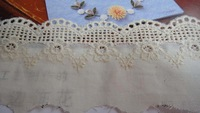 beige color lace,free shipping #137 cotton  lace,6cm width in size,embroidery lace,DIY lace,7yards/lot