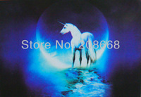 item no.YX1057,free shipping 3D picture,logo:white Pegasus in silver river,size 25x35cm,not fade forever,50pc/lot,home decor art
