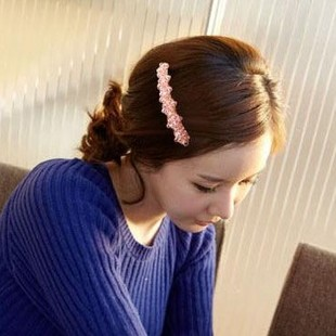 Fashion trend exquisite crystal beads hairpin side-knotted clip(China (Mainland))
