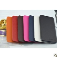 1pcs Freeshipping New arrival leather Flip cover leather case for samsung Galaxy Note i9220 N7000