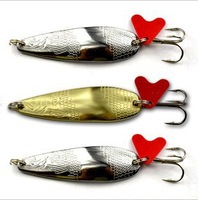2013 NEW !Professional ! HOT! Real Fish Killer! Spoon Lure, 14g.Spinner Lures,Fishing Hard Bait Lures,10pcs/lot ,Silver/Golden