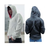 Assassin creed brotherhood DESMOND Hoodie white/black hawk hood sweater coat fleeces guard coat