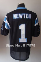 Cheap men #1 Cam Newton Men's Elite Team Black Football Jersey