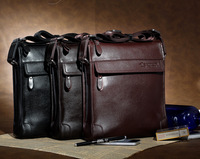 newest 2013 fashion shoulder bag for men high quality leather business man's messenger bag black/brown/deep brown bag for