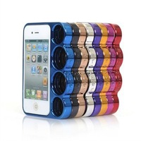 Hot selling Knuckle,Case for iphone5 Ring phone shell finger holes case