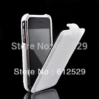 New snake skin flip hard back cover for iphone 3g 3gs