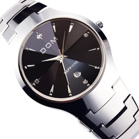 Watch dom tungsten steel mens watch quartz automatic mechanical watch fashion male women's lovers table