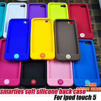10pcs/lot.lower price high quality soft silicone back cover case for ipod touch 5 +Free shipping