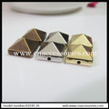free shipment,10mm Square CCB Spike beads,2 Holes sew on Fashion pyramid Stud rivet,1000pcs/lot,silver/gold/bronze