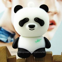 Hot Cute Panda USB 2.0 Flash Memory Stick Drive 4GB 8GB 16GB 32GB Full Capacity Thumb drive Pen Disk Wholesale