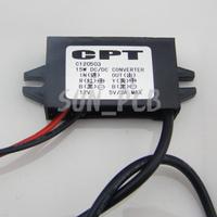 Free Shipping Car Power Supply Module DC 8-22V to 5V Waterproof USB Interface 12V to 5V DC Step-Down Converter