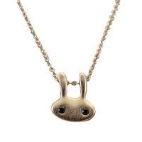 Free shipping ITALINA jewelry rose gold titanium paintless rabbit head small animal necklace female