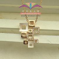 Free shipping ITALINA hot-selling 18k rose gold shell cutout fashion necklace female 200