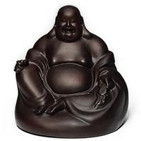 10CM Maitreya sandalwood figure of Buddha statue, Wooden statue of Buddharupa Decoration joss sculpture Handicraft Business Gift