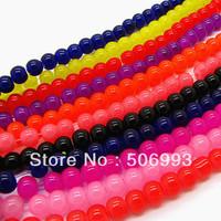250pcs/lot 8mm mix color round crystal beads bulk wholesale HB416