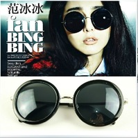 New love to restore ancient ways round frame sunglasses/street snap fashion necessary sunglasses