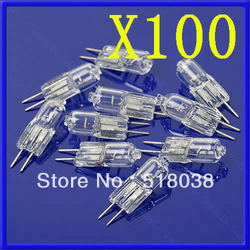 Free Shipping 100X 20W 20 Watt G4 12V Halogen Light Bulb Base JC Type(China (Mainland))