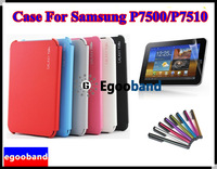 HK/SG POST Case Book Cover Stand For Samsung Galaxy Tab 10.1 GT P7500 P7510 +Transparent screen saver+Free Touch Pen