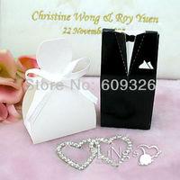 50 pieces Bride & Groom Tuxedo Dress Wedding Favor Box, Favour Box, Gift Box - FREE SHIPPING