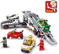 Free shipping !Sluban 638pcs/set Children's DIY educational  toys, Auto transport truck M38-B0339 block toys