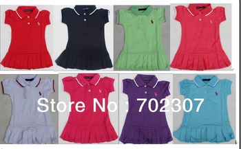 Free Shipping popular design Girls dress Pleated dresses children tennis dress  has many color  5pcs/lot BD-001