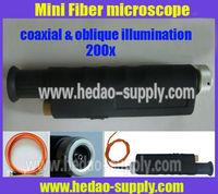 200x Dual illumination fiber microscope