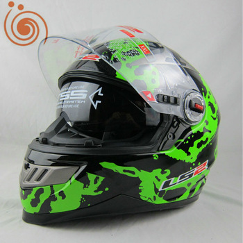 LS2 motorcycle helmet FF310 / double lens/standard edition and Glass steel material helmet