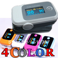 CE/FDA 4 color choice!! Pulse Oximeter Color OLED display, SPO2 monitor Factory direct price