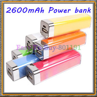 colorful 2600mAh universal Power Bank battery charger for mobile phone for iphone 5 4s 4 ipad for PSP..